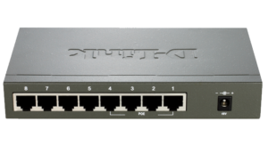 8-Port 10/100Mbps PoE Unmanaged Switch (Metal Housing) DES-1008PA