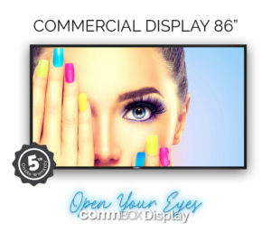 CommBox Display 86″ 4K